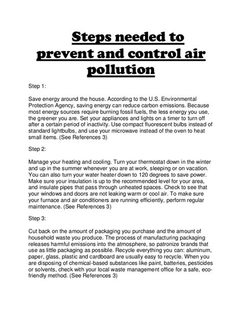 How To Prevent Air Pollution Essay by Scince Folio Air Pollution