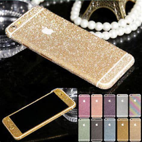 Sticker Glitter Iphone 7plus 7 bling vinyl glitter decal wrap kit sticker skin cover for iphone 6 ebay