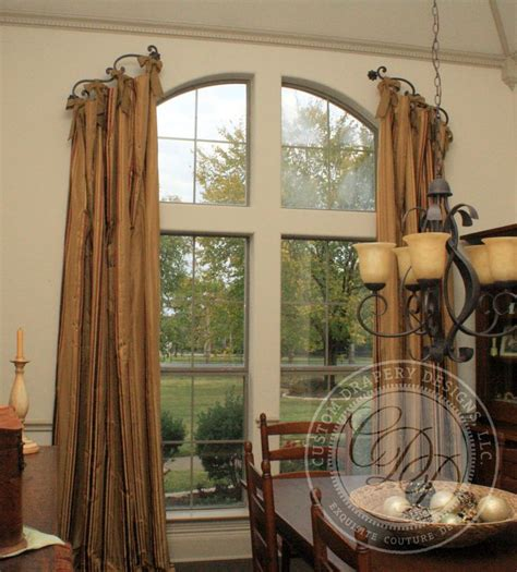 arched curtain rod for windows 25 best ideas about arched window treatments on pinterest