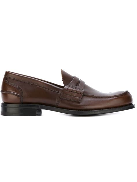 classic loafers for church s classic loafers in brown for lyst