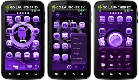 themes launcher cyanogen android themes new cyanogen purple go launcher ex theme