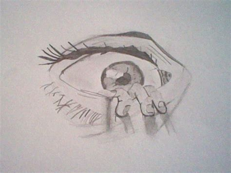 Sketches For 8 Year Olds by The Eye Drawing By An 11 Year By Slashclaws1 On Deviantart