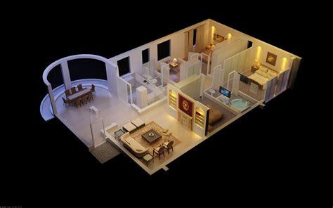 luxurious house  designer interior  model max