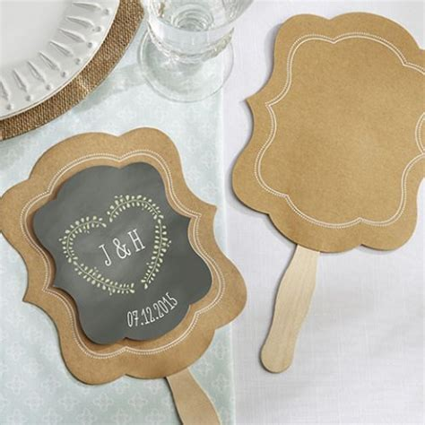 Personalized Hand Fan, Kraft Paper Fan, Personalized Kraft