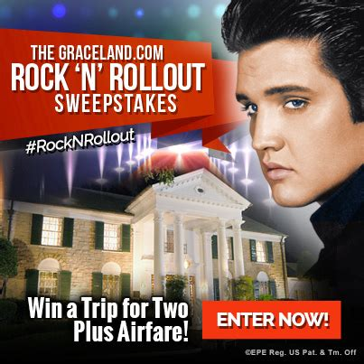 N Sweepstakes by Enter To Win The Graceland Rock N Rollout