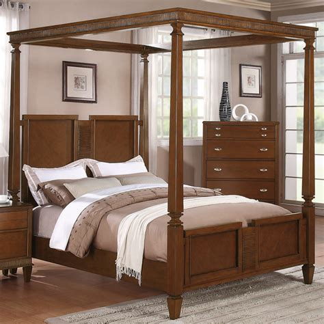 California King Canopy Bed Canopy California King Canopy Bed In Light Cherry Finish Modern Canopy Beds