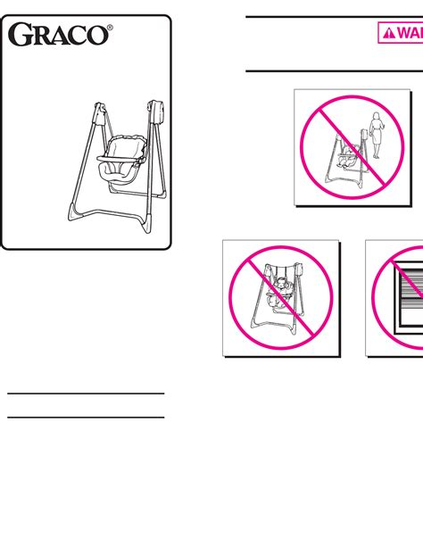 graco swing assembly instructions graco swing sets 1423 1424 1428 1434 1435 1464 1468