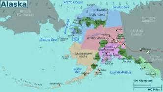 large regions map of alaska state alaska state usa