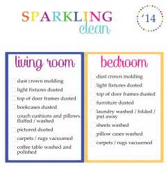 living room checklist clean your room and here is the list for the bedrooms