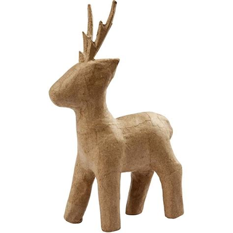 How To Make A Paper Mache Reindeer - paper mache standing reindeer giggle factory