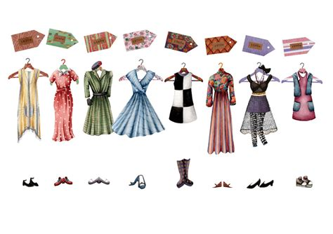 fashion illustration through the years vintage clothing illustrations hallett and