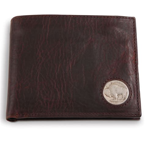 Buffalo Leather by The Genuine American Buffalo Leather Wallet Hammacher