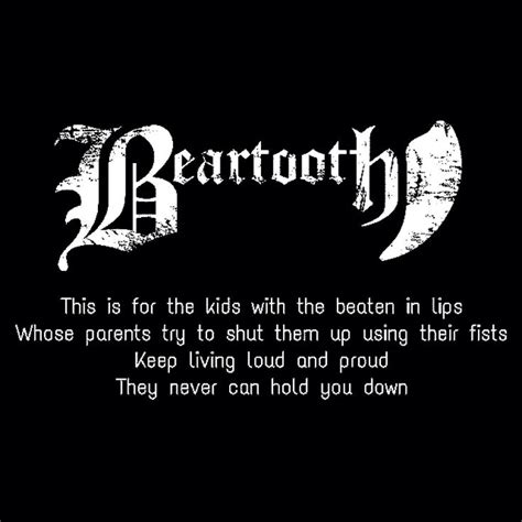 Beartooth Beaten In Lips   beartooth one more quotes quotesgram