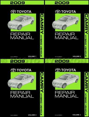 old car repair manuals 2009 toyota camry hybrid on board diagnostic system 2009 toyota camry hybrid repair shop manual original 4 volume set