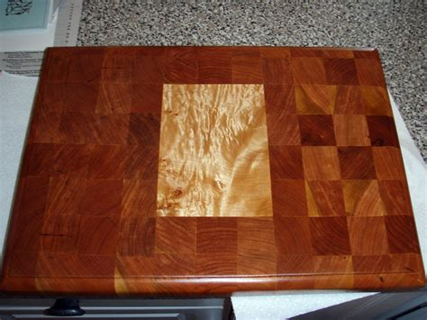 Black Cherry And Curly Maple Cutting Board By Mattyb22