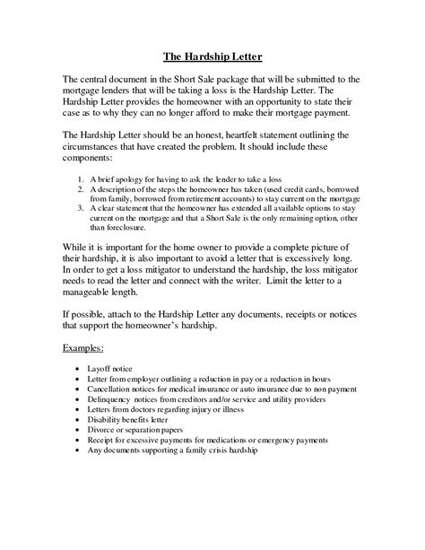 Financial Hardship Letter Hardship Sle Letter 2013 Home Design Idea