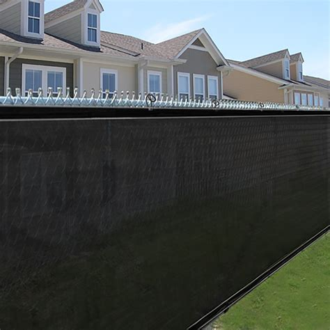 privacy screen for fence outdoor privacy fence screen 6 ft x 50 ft black mesh jet