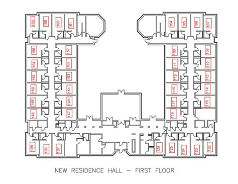 dorm floor plans new residence hall residential education and housing