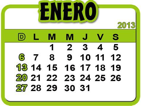 calendario de enero de 2013 actividades en familia enero 2013