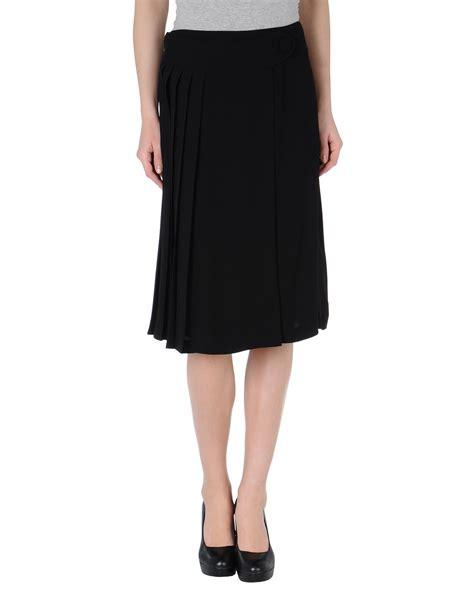 tara jarmon knee length skirt in black save 52 lyst