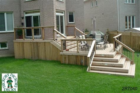 Deck Corner Stairs Design 2 Level Diy Deck Plans