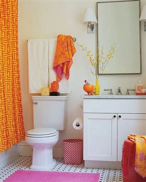 apt bathroom decorating ideas 18 ba 241 os decorados en naranja