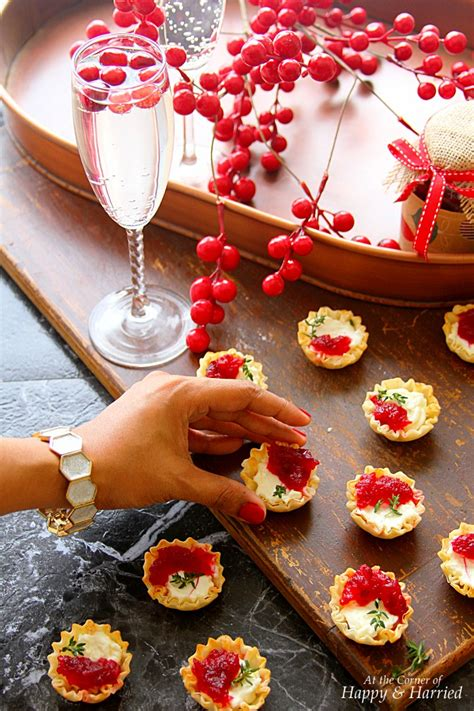 cute christmas appetizers for parties cranberry cheese mini phyllo bites appetizers