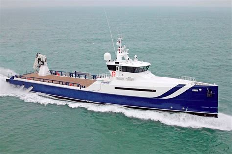 axis boats reliability the launch of the first sea axe support vessel oberon by