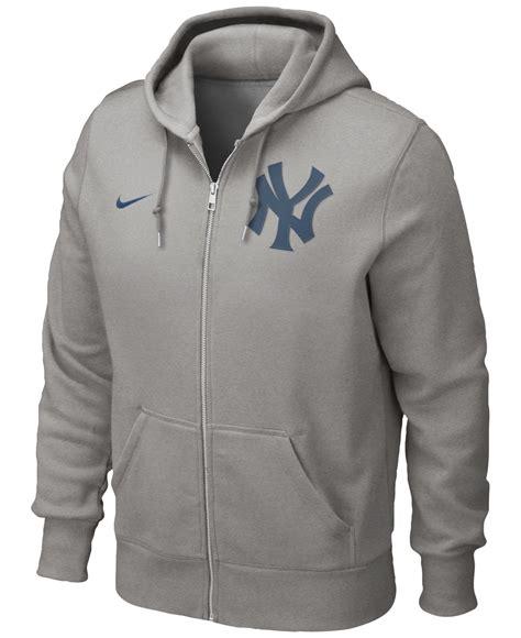 Sweater Sweatshirt Yankees Nike Terlaris nike s new york yankees zip hoodie sweatshirt in gray for lyst