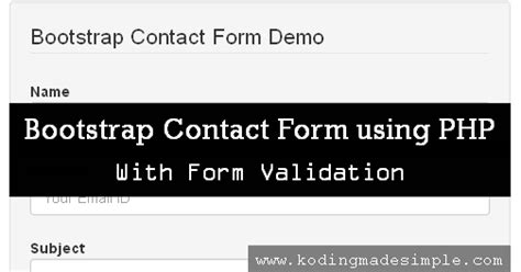 tutorial bootstrap php twitter bootstrap contact form tutorial using php with