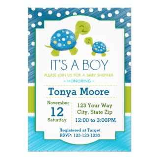 Turtle Baby Shower Invitations by Turtle Baby Shower Invitations Announcements Zazzle