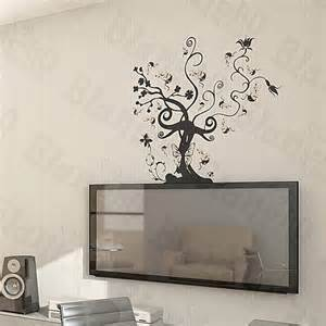 home accents wall: vine tree large wall decals stickers appliques home decor