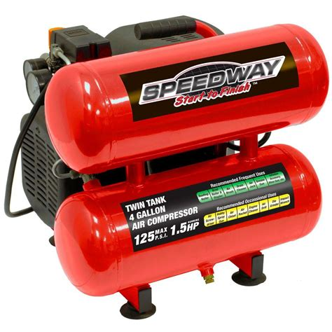 speedway 4 gal 1 5 hp stack lube electric air compressor 7340 the home depot