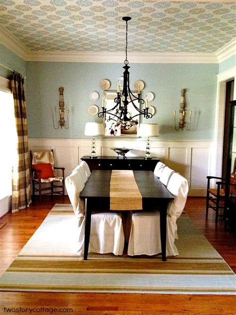 refresh your home tip 9 add wallpaper english dining room ceiling ideas beutiful ceiling dining room