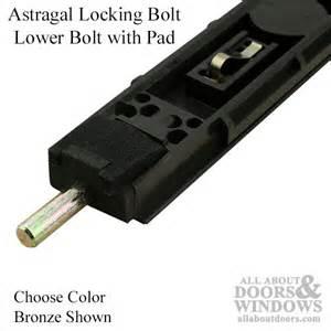 Sliding Patio Storm Door Locking Ultimate Lite Bolt For Astragal Upper Choose Color