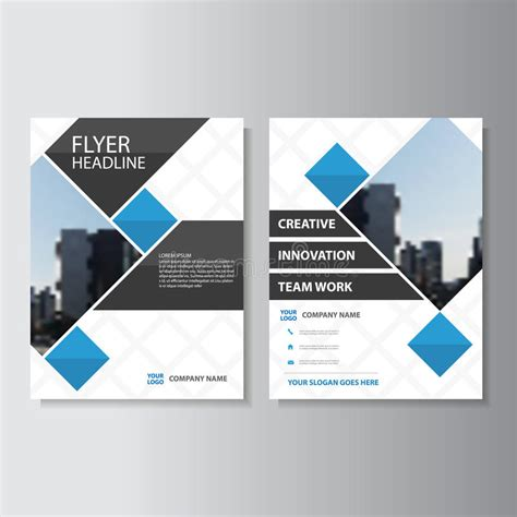 book layout rates blue vector annual report leaflet brochure flyer template