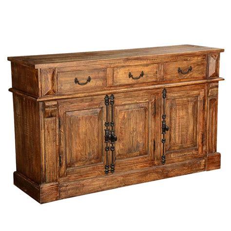 Wood Sideboard by Teton Rustic Solid Wood 3 Drawer Sideboard