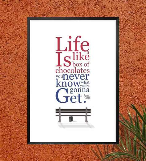 inspirational accent l box labno4 forrest gump inspirational quotes frame