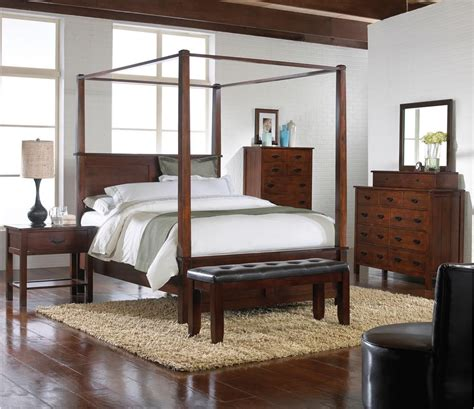 bedroom sets with canopy beds carey queen canopy bed 4 piece bedroom set furniture depot red bluff storefurniture