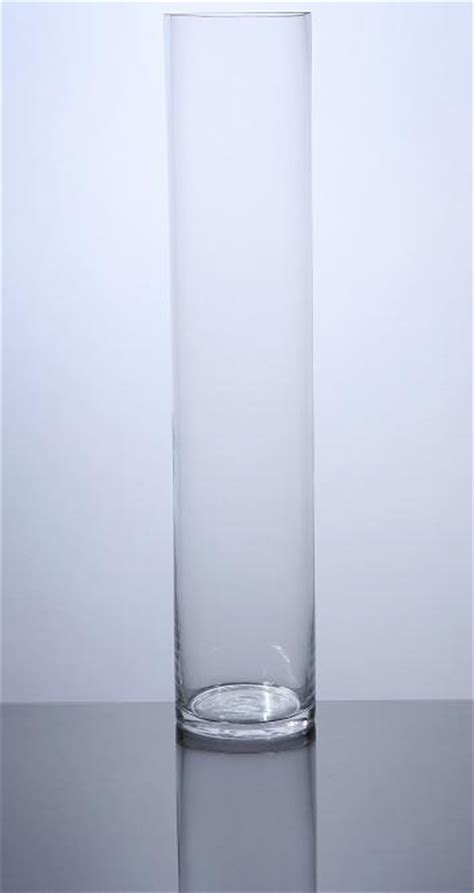 18 Inch Cylinder Vases Bulk by Pc418 Cylinder Glass Vase 4 Quot X 18 Quot 12 P C Cylinder