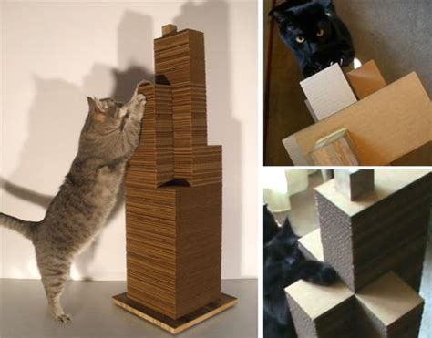 modern scratching post 1000 images about diy cardboard cat scratch on pinterest
