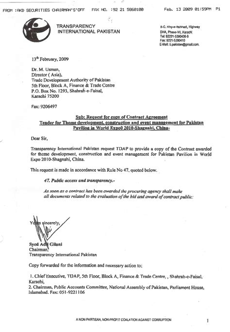 Construction Contract Letter Of Credit 13th february 2009 page1