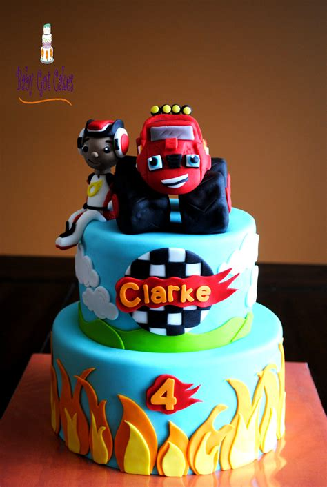 Decorating With Blue by Blaze Amp The Monster Machines Cakecentral Com