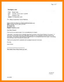 Resignation Email Letter by 13 Subject Resignation Letter Resume Emails