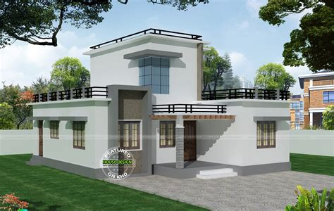 phenomenal 12 house plans in drawing make your own blueprint how 1308 sq ft flat roof home design design architecture and