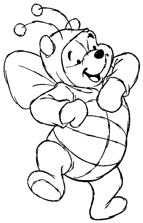 Coloriage Winnie L Ourson The Match Free Printable Coloring Pages