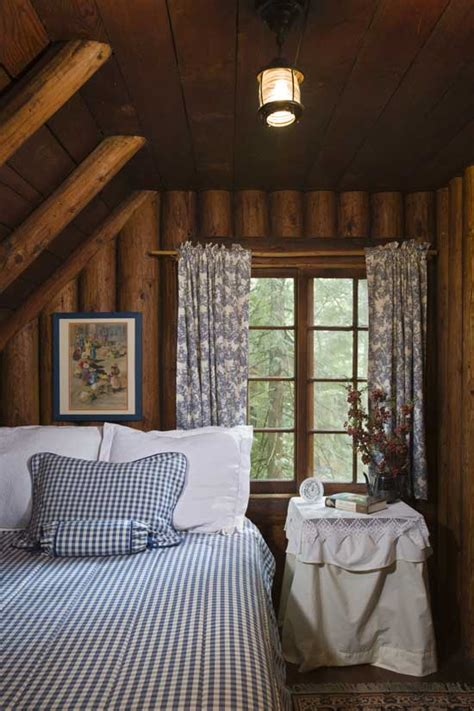 log cabin bedroom a rustic cottage in the woods home design garden