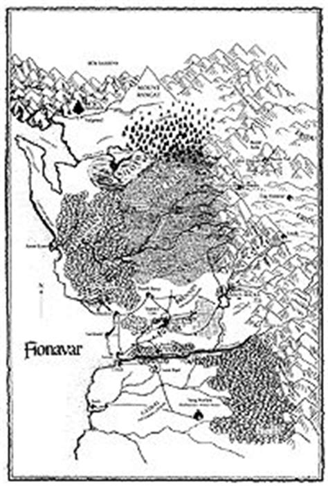Map of Fionavar by artist Sue Reynolds, for the novels by