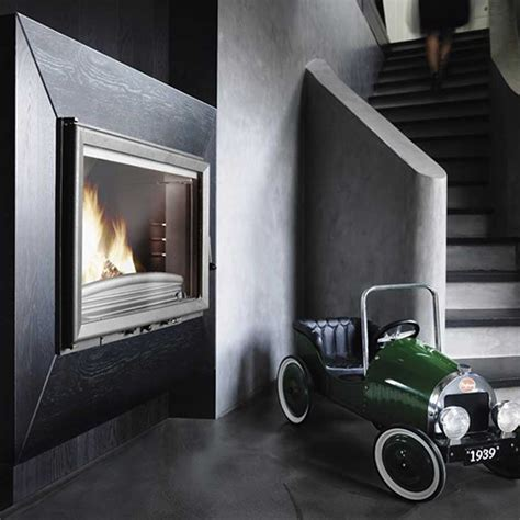 Invicta Foyer 700 by Invicta Fireplaces Wide View 700 Side 70 Cm