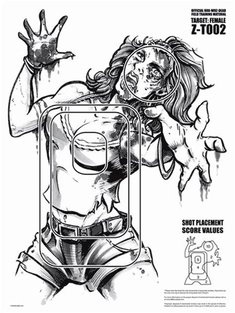 printable archery targets zombie zombie targets pinteres